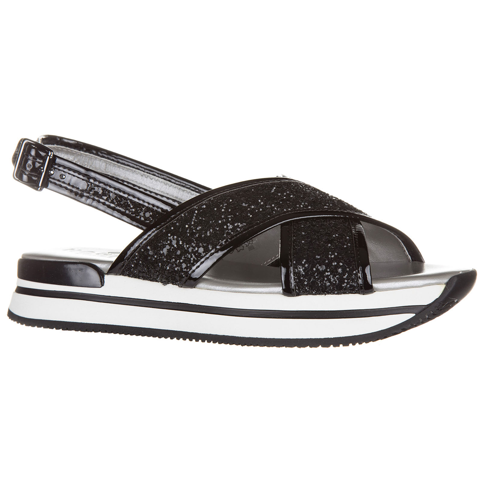e47c585757 Women's leather sandals h257 glitter fasce incrociate Women's leather  sandals h257 glitter fasce incrociate ...