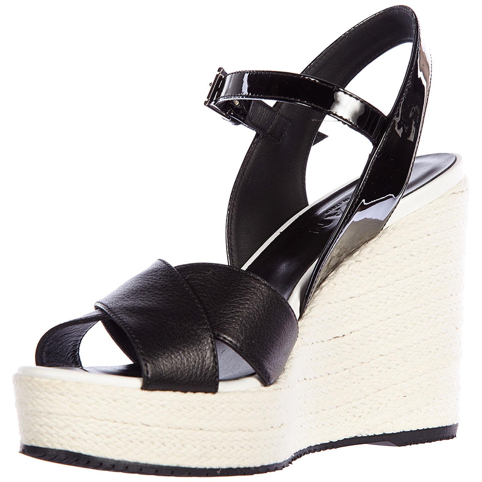 Zeppe sandali donna in pelle h263 vernice 5f6ZBuu3