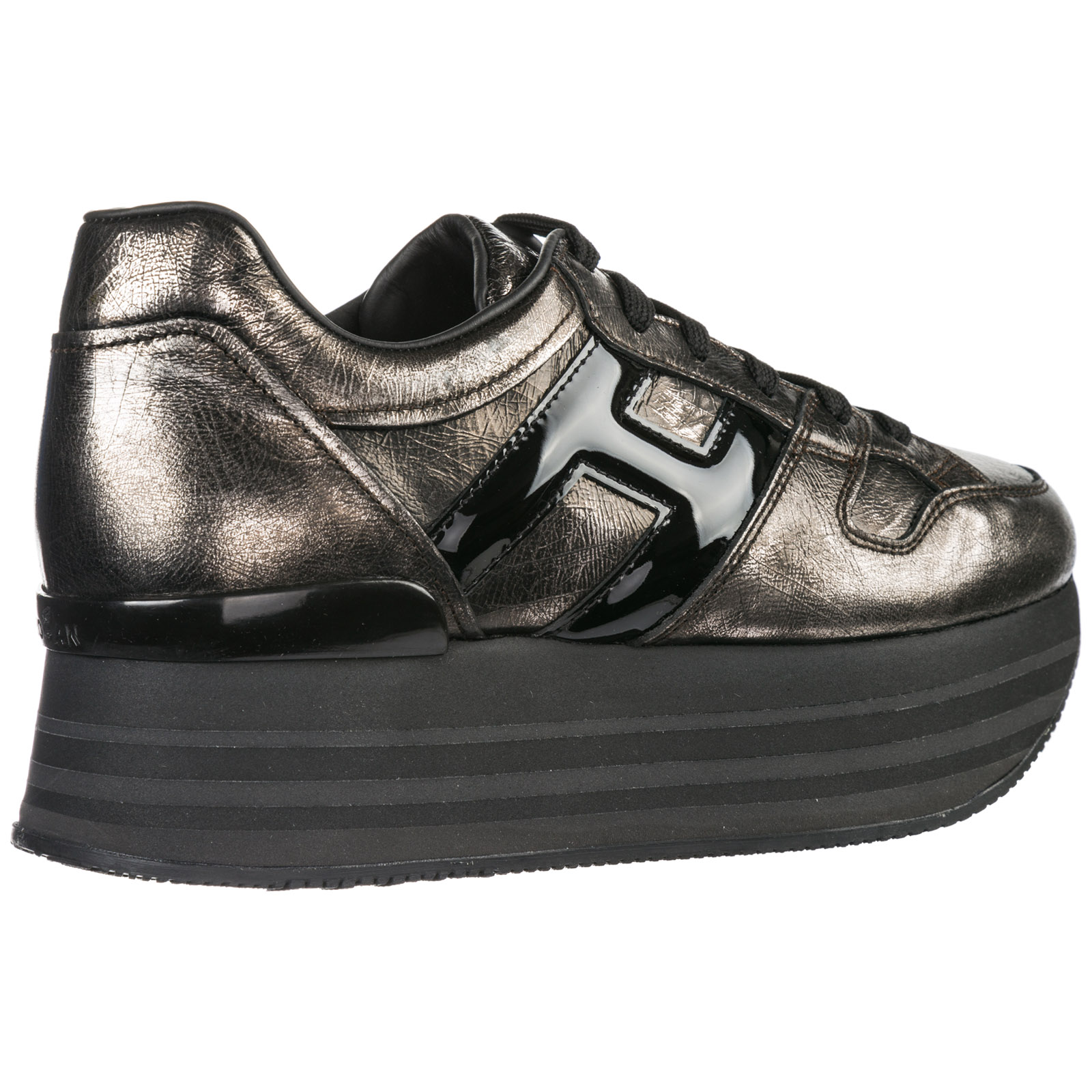 Women's shoes leather trainers sneakers maxi h222