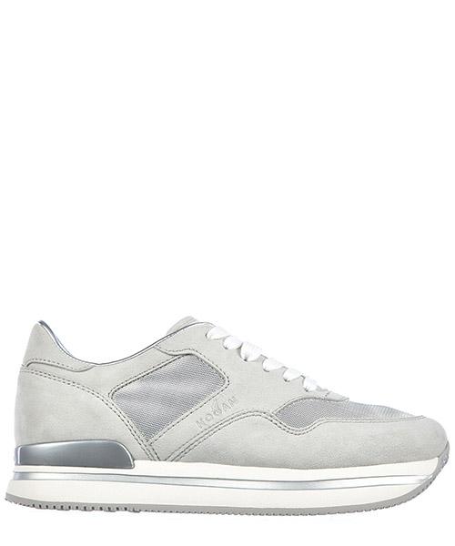 Sneakers con zeppa Hogan H222 HXW2220N623E2O2839 argento nebbia