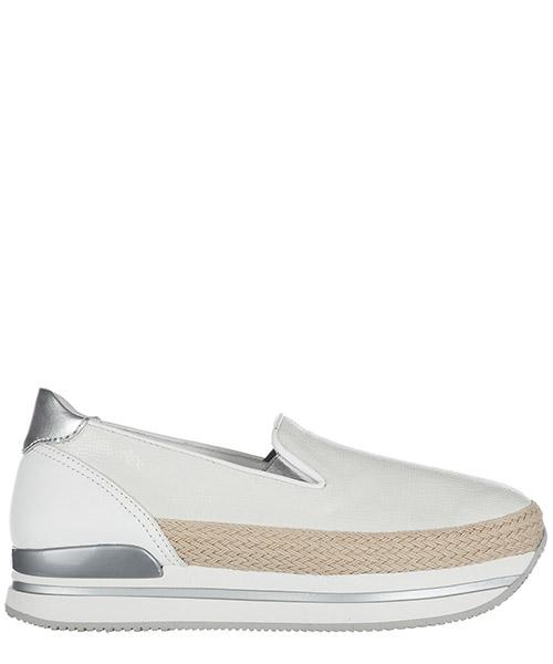 Scarpe slip on Hogan H222 HXW2220X350FQR0351 argento bianco