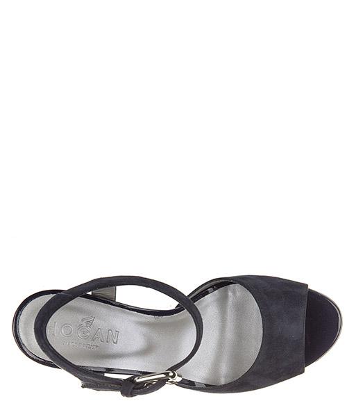 Sandali donna con tacco camoscio fascia grande secondary image