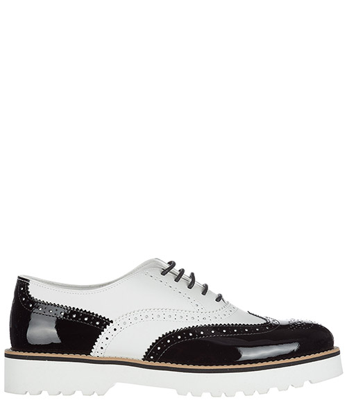 Hochhackige Oxfords Hogan HXW2590R3208EP0001 bianco nero