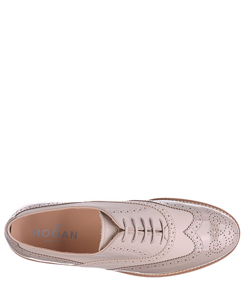 Scarpe stringate classiche donna in pelle h259 route francesina brogue secondary image