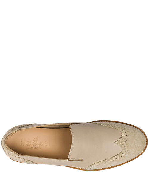 Slip on donna in pelle sneakers  h259 secondary image