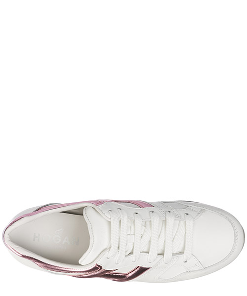 Women's shoes leather trainers sneakers maxi h222 secondary image