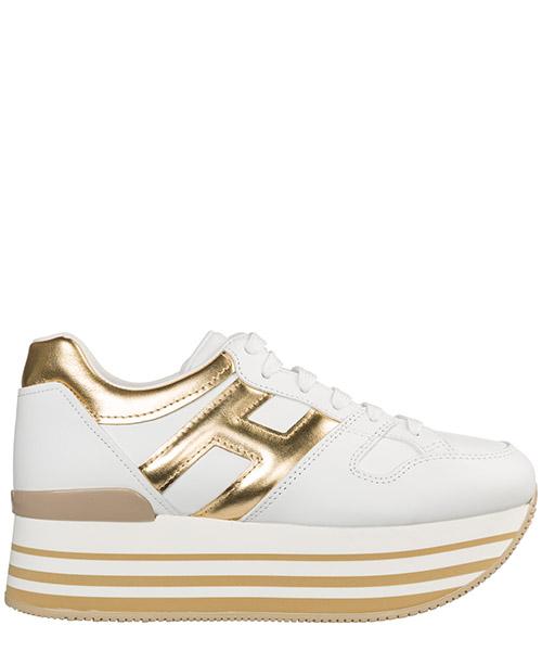 Wedge sneakers Hogan Maxi H222 HXW2830T548I6W4085 bianco oro