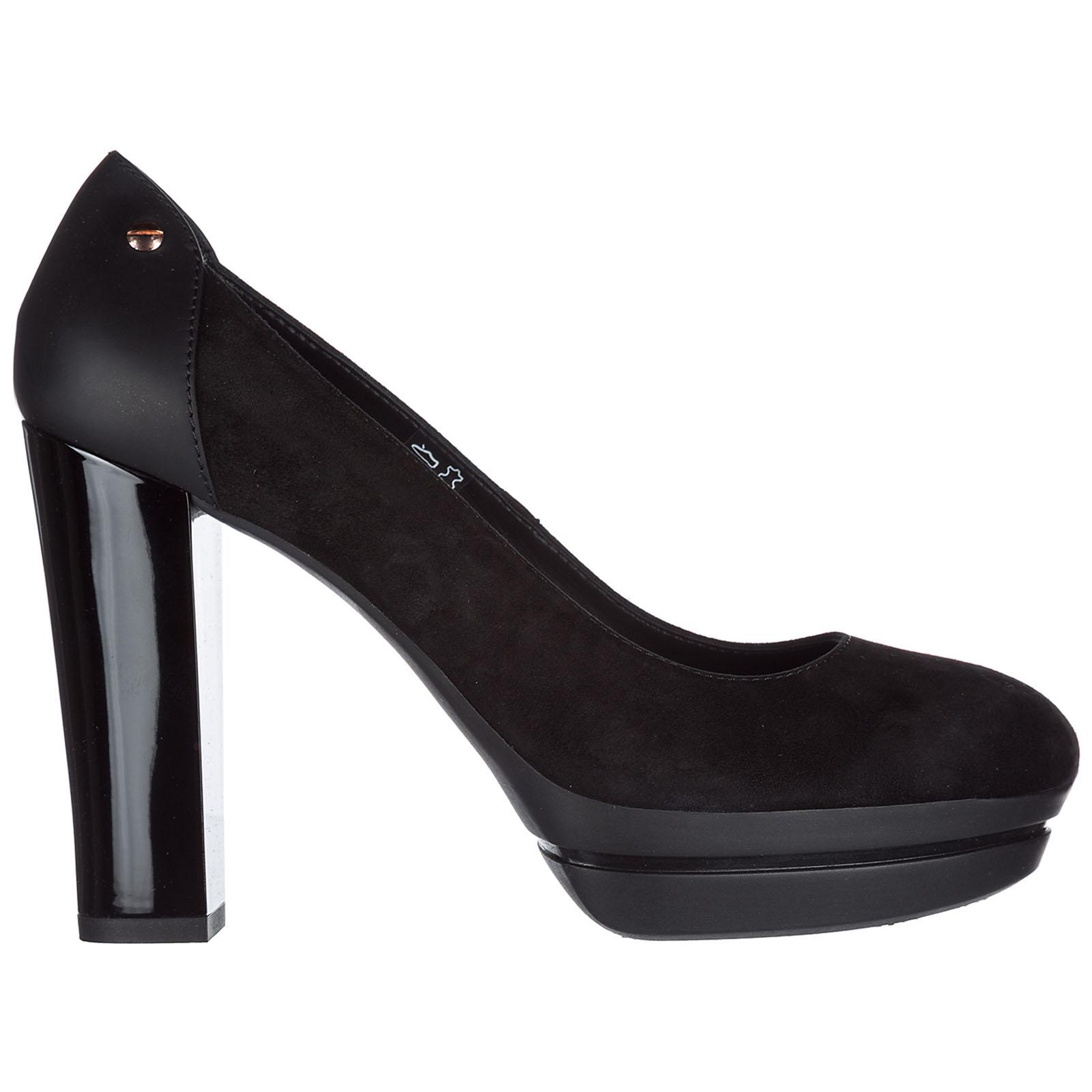 Decolletes decoltè scarpe donna con tacco camoscio h313