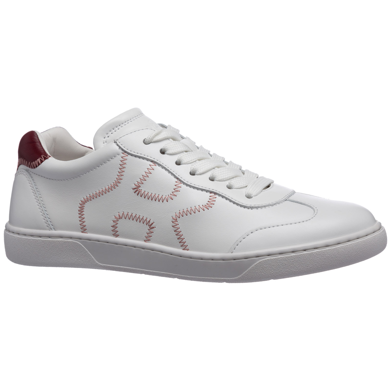 Women's shoes leather trainers sneakers h327