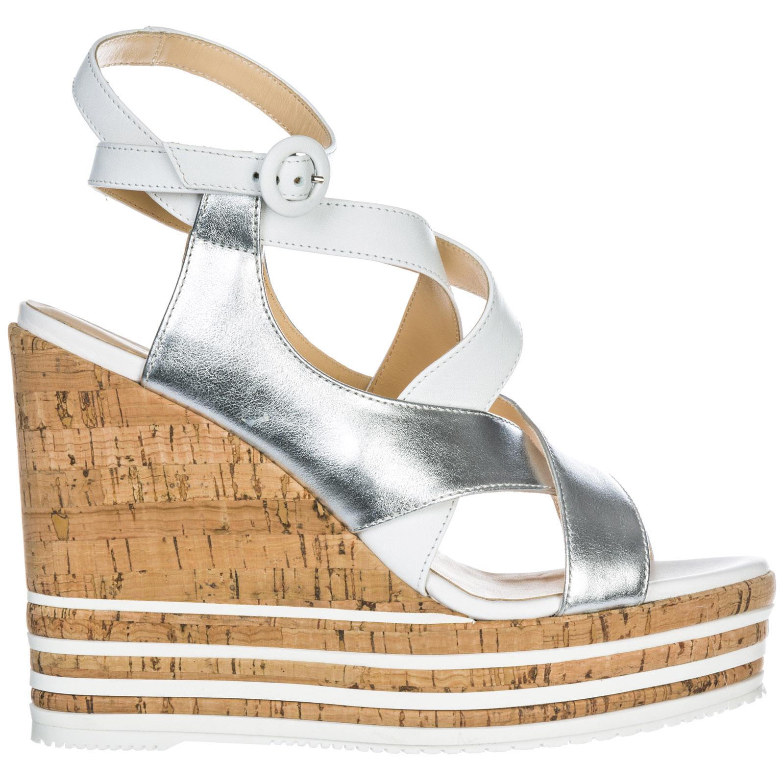 6a36b87286 Zeppe sandali donna in pelle h361