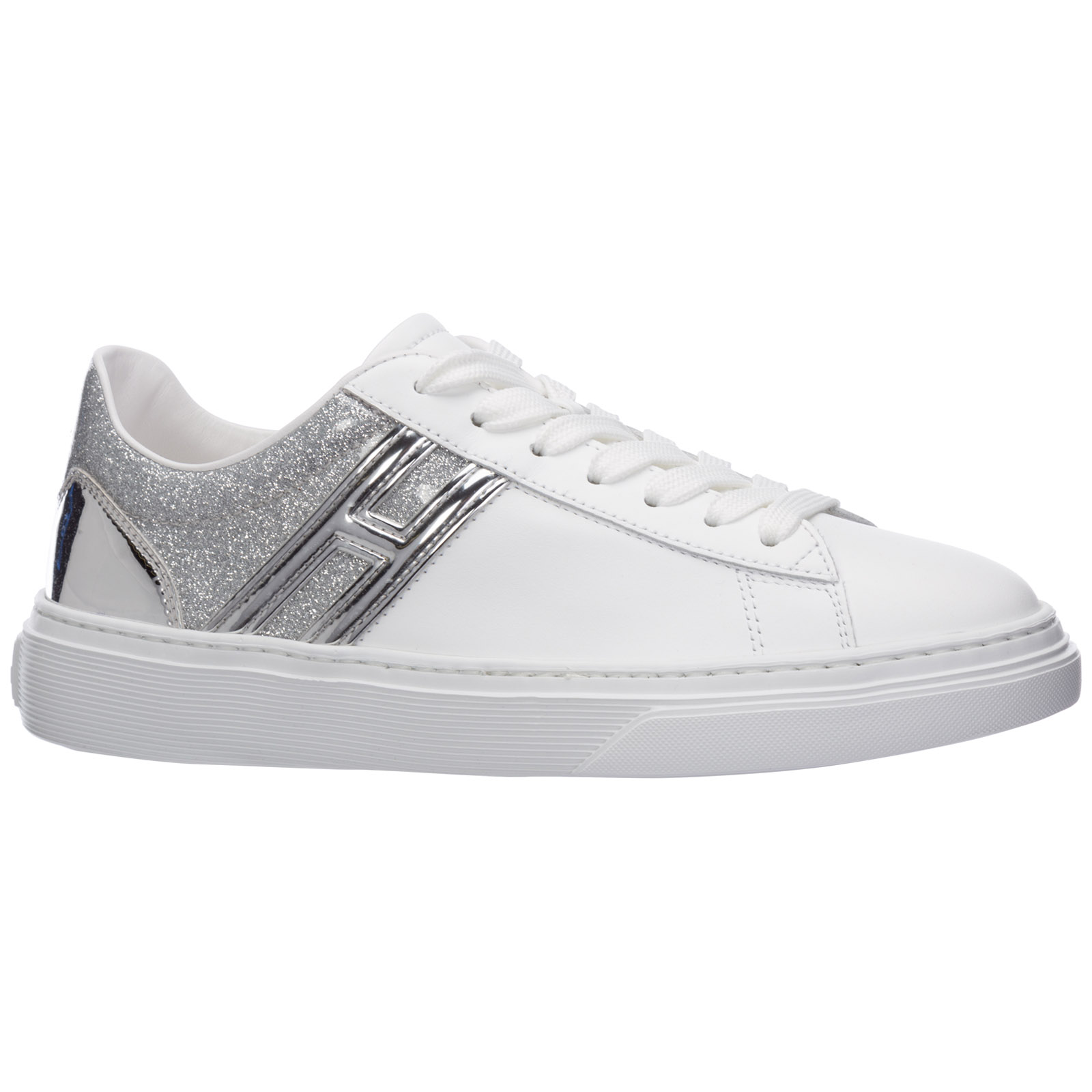 Women's shoes leather trainers sneakers h365