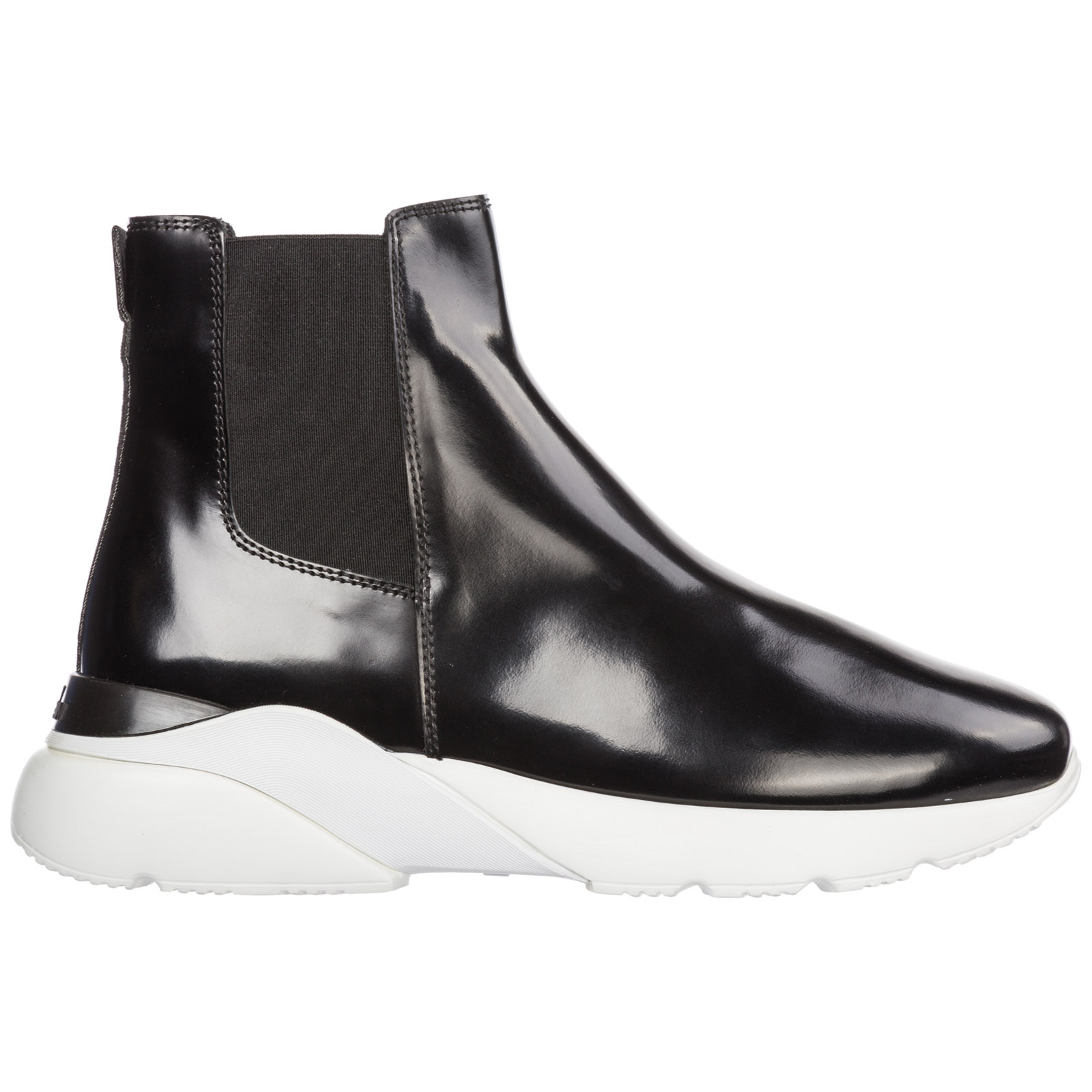 Hogan Women's Leather Ankle Boots Booties Active One In Black