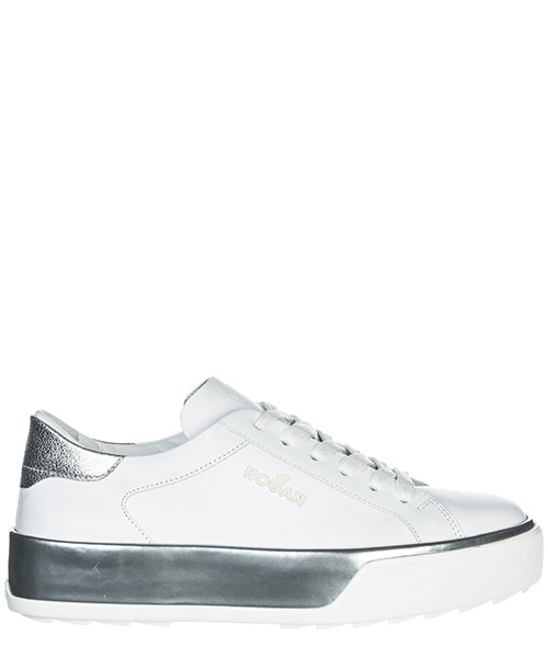 Sneakers Hogan R320 HXW3200AG80IW50351 argento bianco