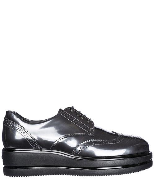 Chaussures à lacets classiques femme en cuir h323 derby