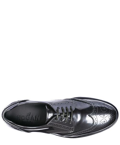 классические туфли на шнурках женские кожаные h323 derby secondary image