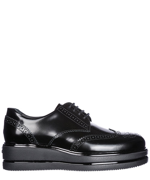 Hochhackige Oxfords Hogan HXW3230Z6901QAB999 nero