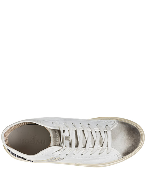Scarpe sneakers alte donna in pelle h342 secondary image