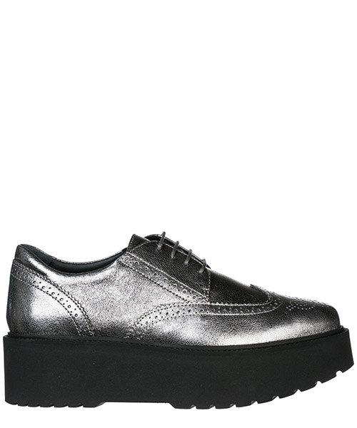 Zapatos de cordon Hogan H355 HXW3550AB00MECB205 argento scuro
