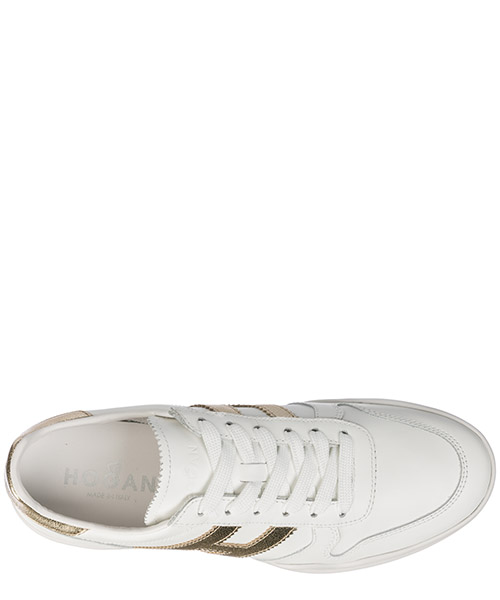 Women's shoes leather trainers sneakers h357 secondary image