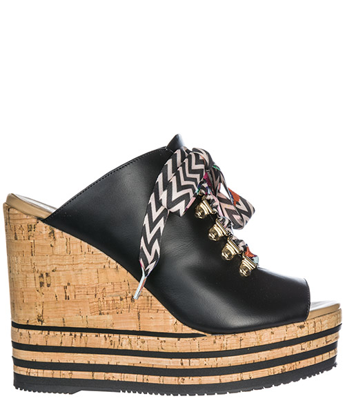 Wedge sandals Hogan H361 HXW3610AB10KLAB999 nero