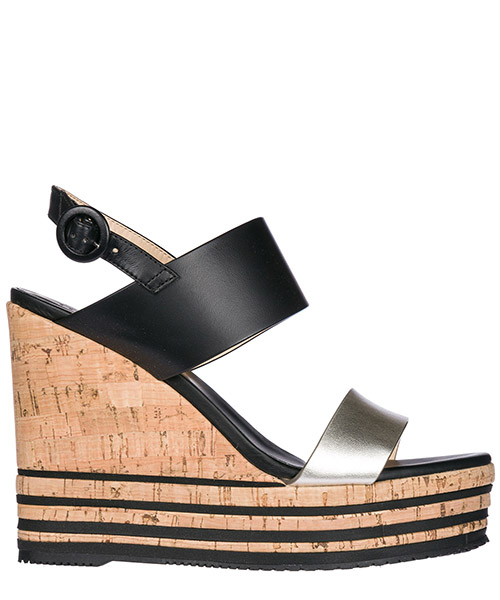Wedge sandals Hogan HXW3610X822I813953 nero platino
