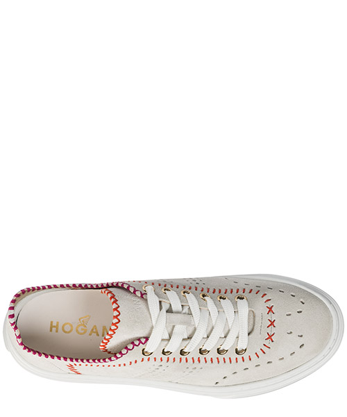 Women's shoes suede trainers sneakers h365 secondary image