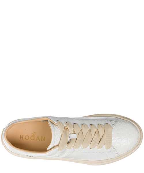 Women's shoes leather trainers sneakers h365 secondary image