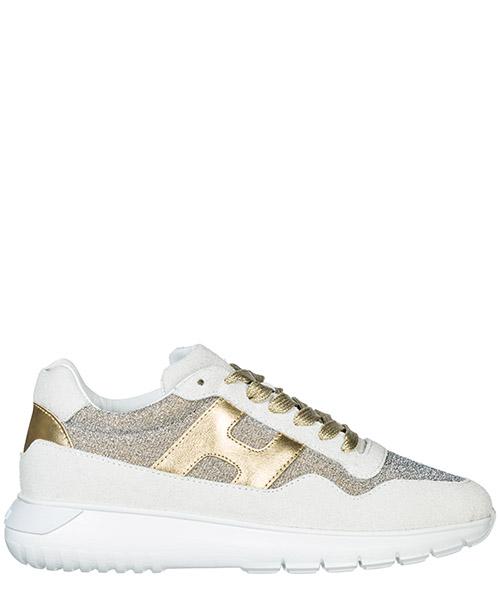 Sneakers Hogan Interactive³ HXW3710AP30JNP4934 bianco oro pallido