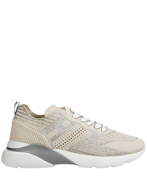 Sneakers Hogan active one hxw3850bm40ffy1556 bianco platino