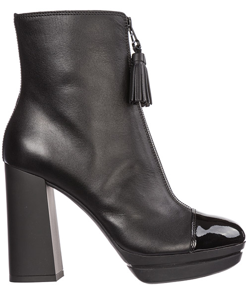 Women's leather heel ankle boots booties h391