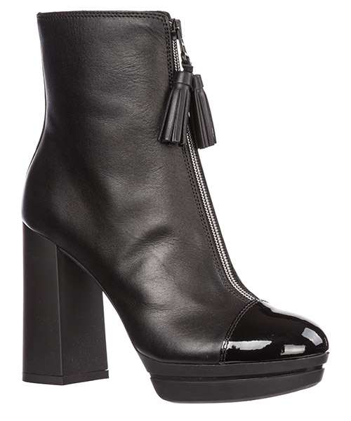 Women's leather heel ankle boots booties h391 secondary image