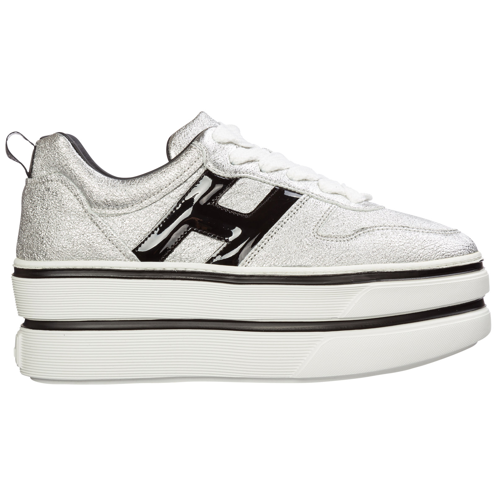 Women's shoes leather trainers sneakers h449