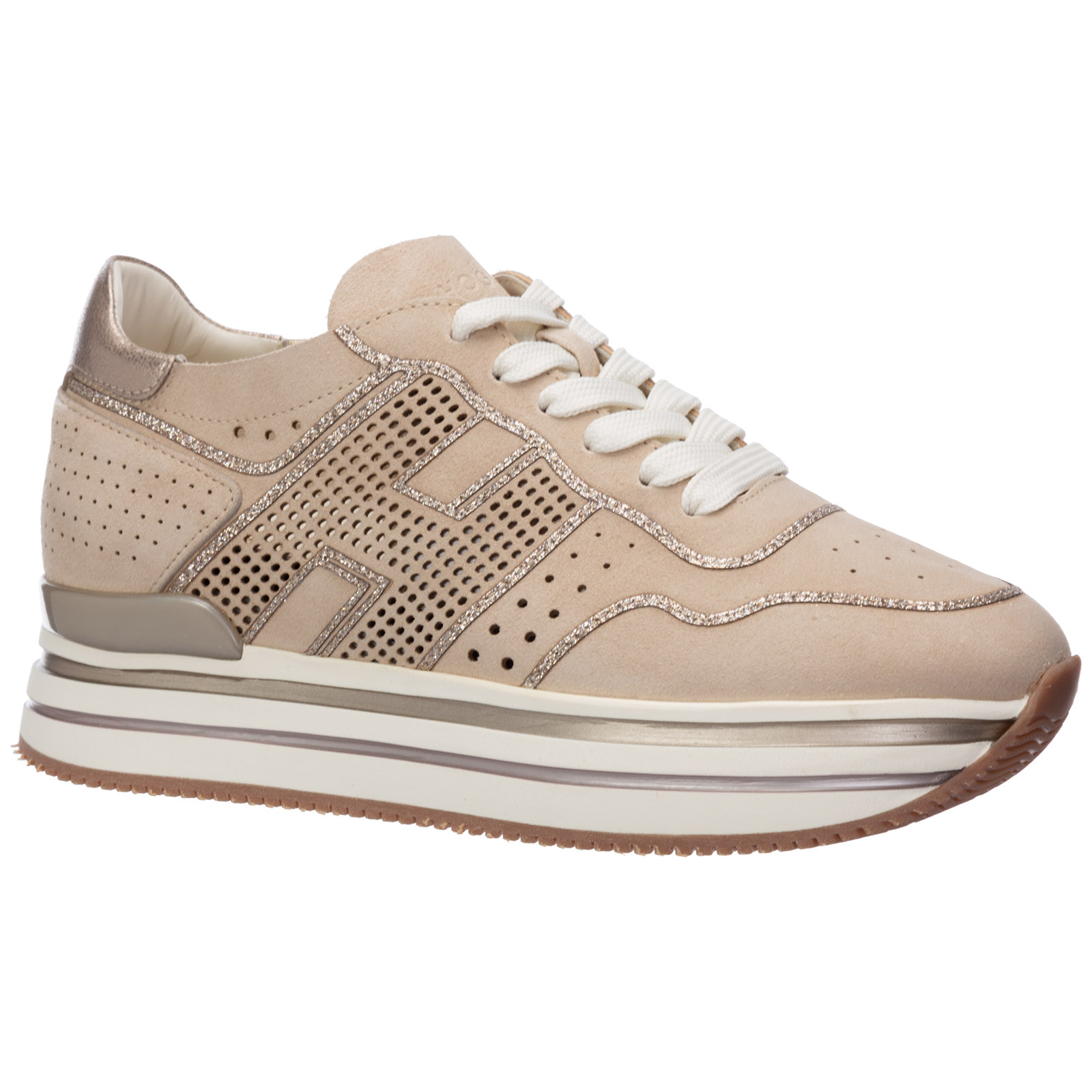 Women's shoes suede trainers sneakers midi h222