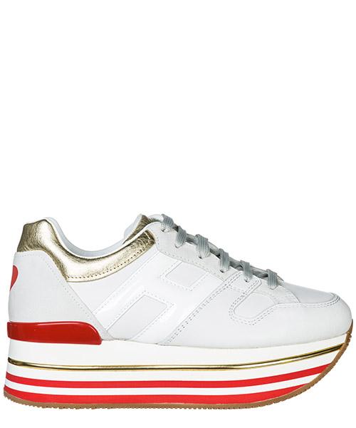 Wedge sneakers Hogan Maxi H222 HXW4030AU40JPB4085 bianco oro pallido
