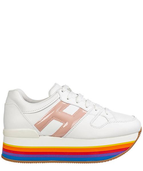 Sneakers con zeppa Hogan maxi h222 hxw4210t548i6s0qan bianco
