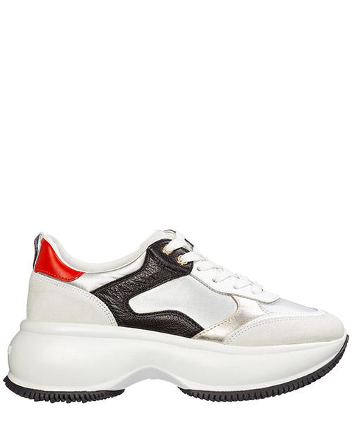 Wedge sneakers Hogan maxi i active hxw4350bn54ls50qtm argento