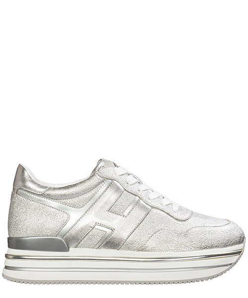 Sneakers Hogan midi platform hxw4680cb80lwr09b2 argento