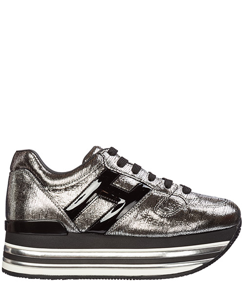 Wedge sneakers Hogan maxi h222 hxw4730t5489up188b argento