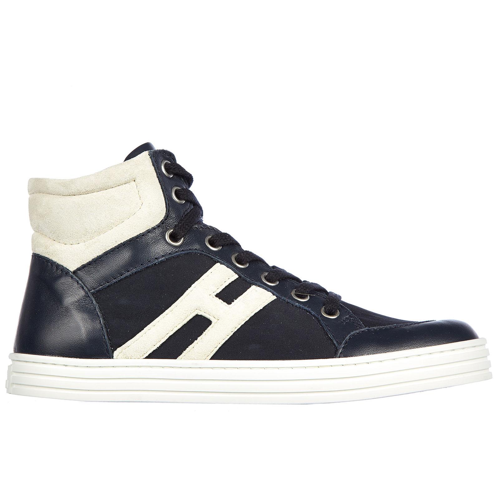 c286207b7c7fe Hogan Rebel Boys shoes baby child sneakers pelle rebel polacco basket