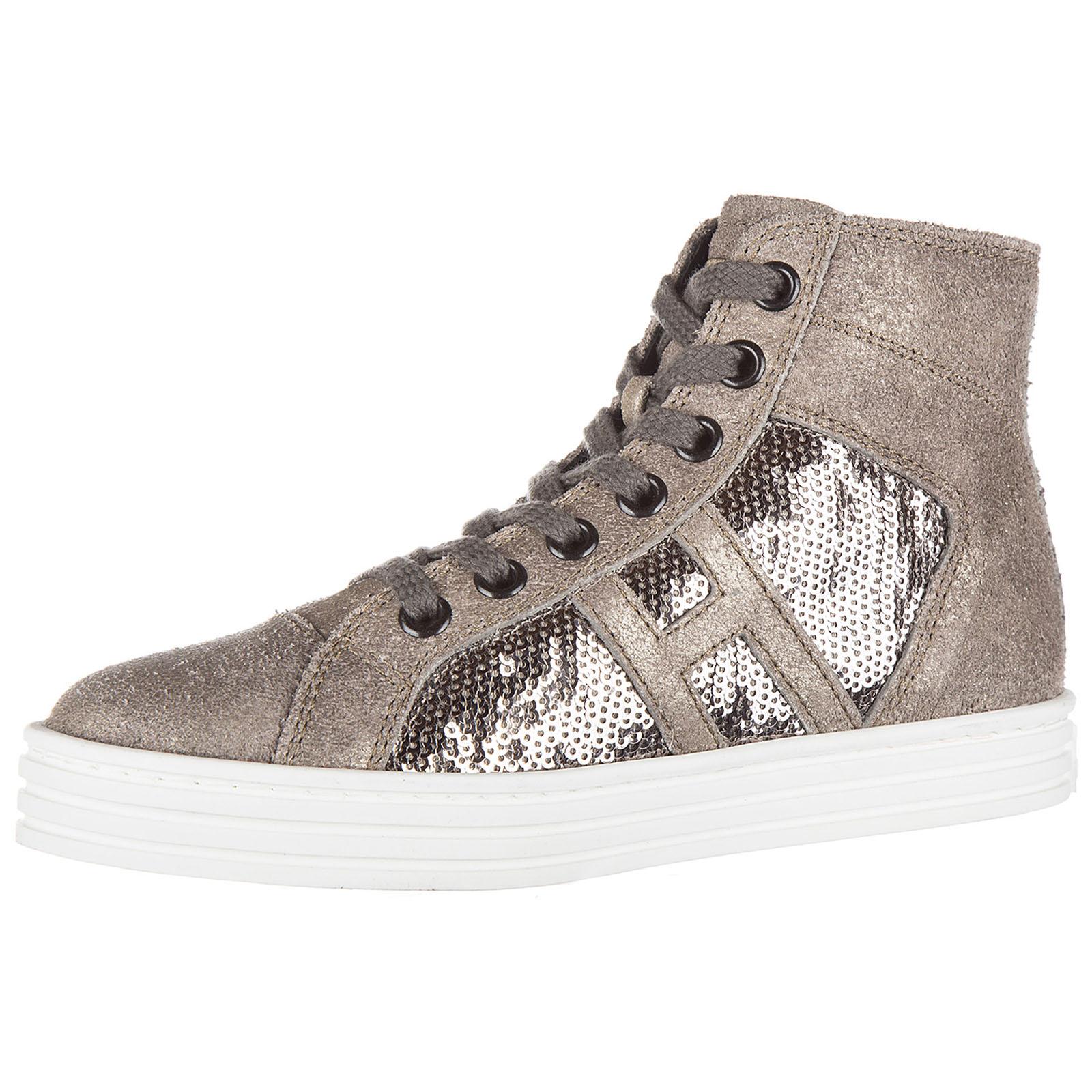 Sneakers alte Hogan Rebel R141 HXC1410P991DWE699F argilla - palude ... d4d58414478