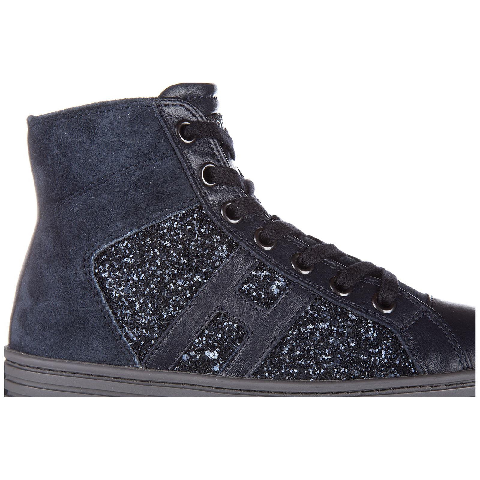 Chaussures baskets hautes sneakers filles en daim r141