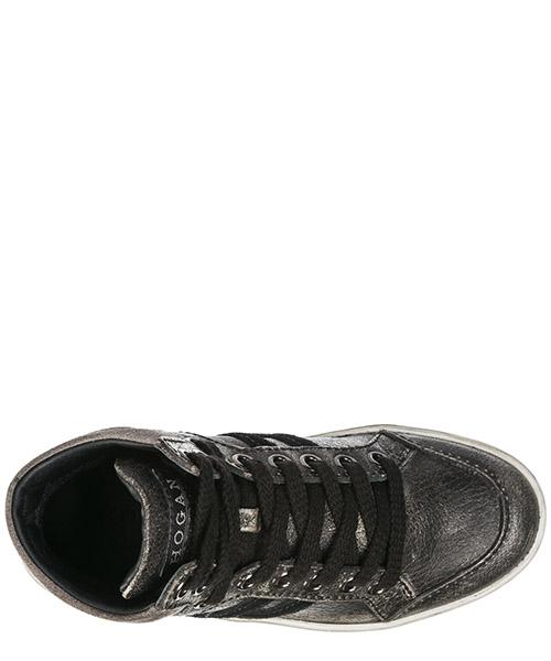 Scarpe sneakers bimbo bambino alte pelle r141 secondary image