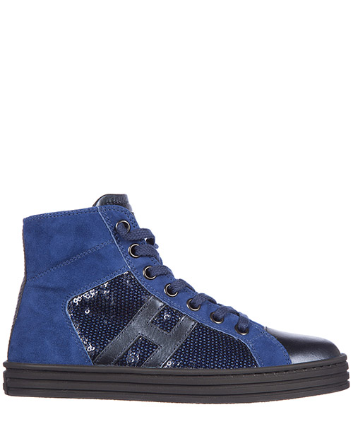 Baskets hautes Hogan Rebel R141 HXC1410P9919N70M02 blu