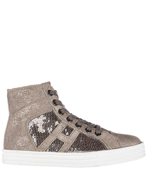 High top sneakers Hogan Rebel R141 HXC1410P991DWE699F argilla - palude