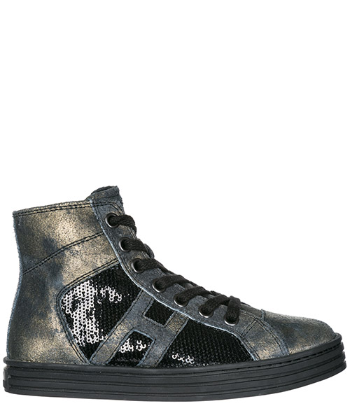 Sneakers alte Hogan Rebel R141 HXC1410P991DWEB999 nero