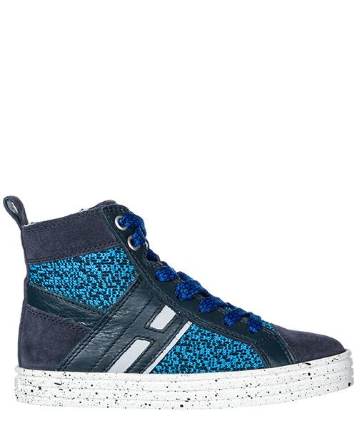 High top sneakers Hogan Rebel R141 HXC1410U770FUV0XTU blu