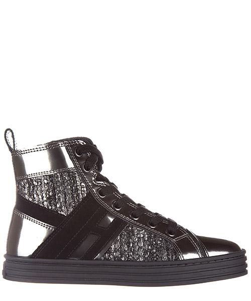 High-top sneakers Hogan Rebel r141 hxc1410u771efj756w argento - nero