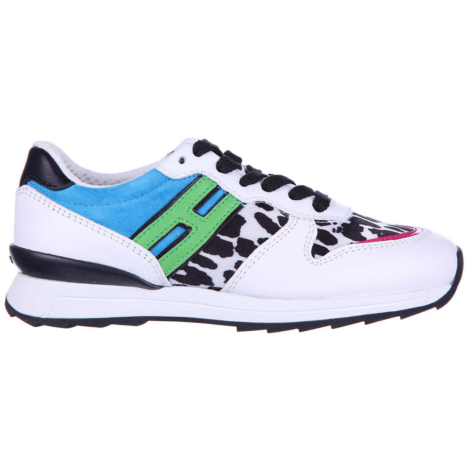 Scarpe sneakers bambina pelle r261