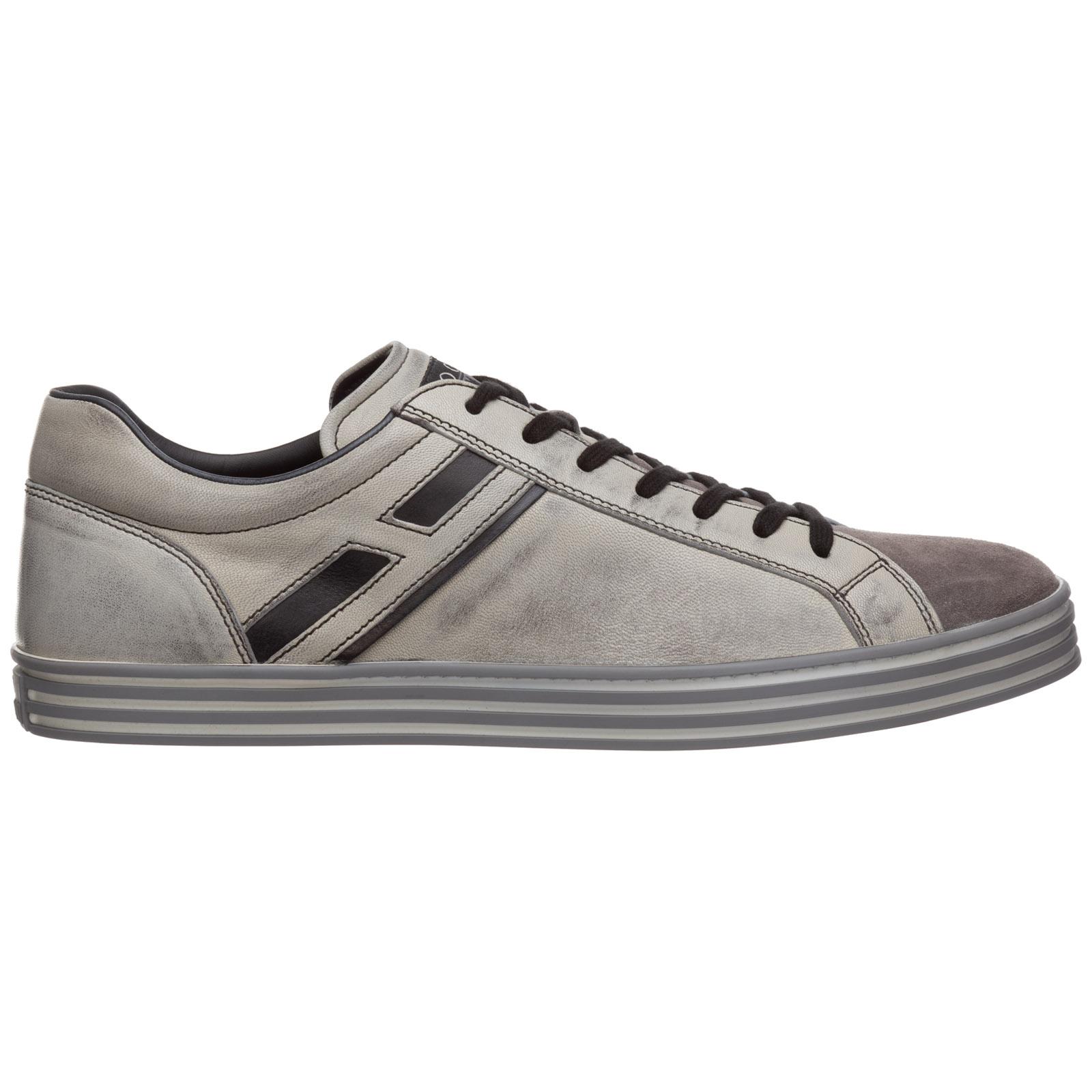 fddd0e653d77 Sneakers Hogan Rebel R141 HXM1410O20075W0803 nero piombo   FRMODA.com