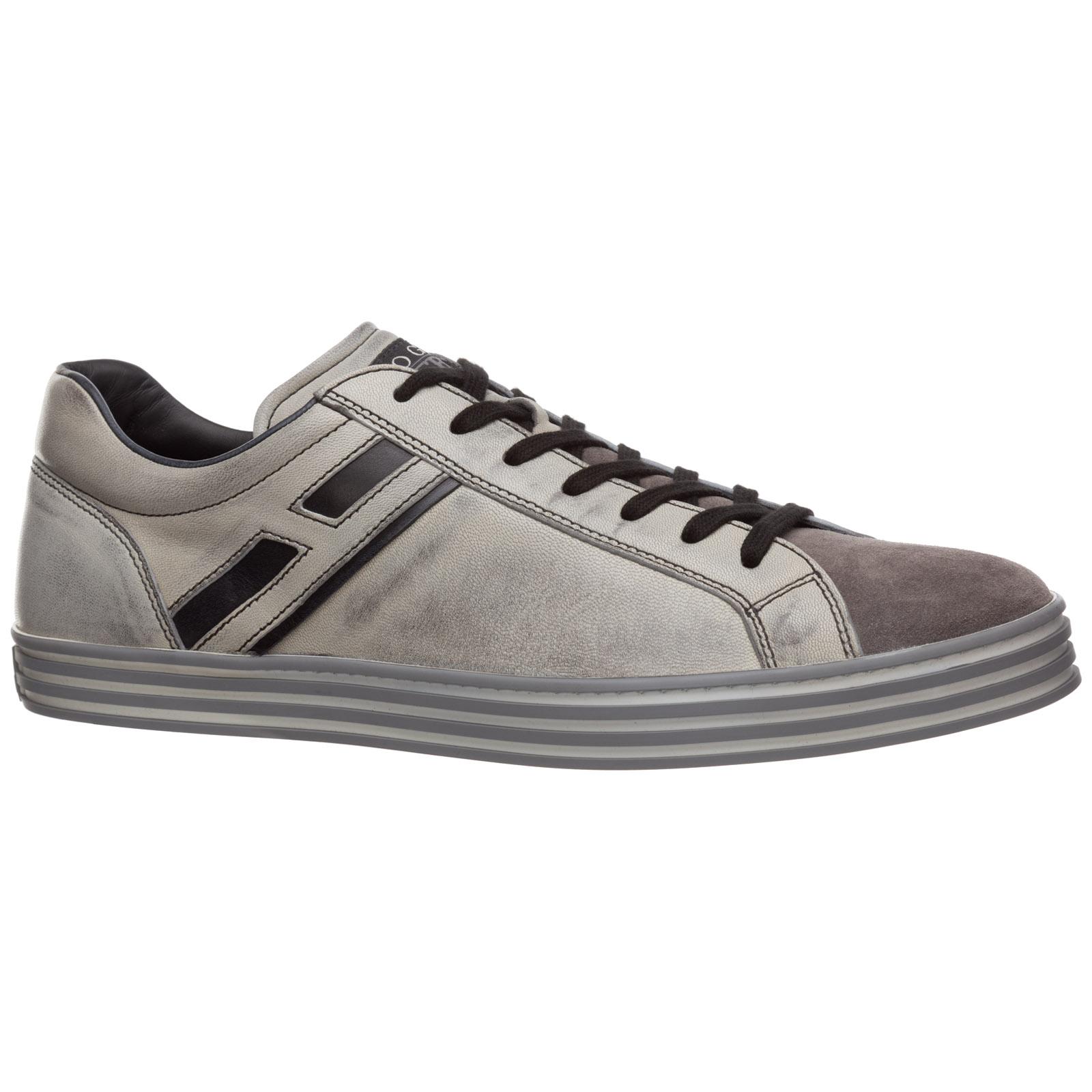 Sneakers Hogan Rebel R141 HXM1410O20075W0803 nero piombo  9a9abb4369b